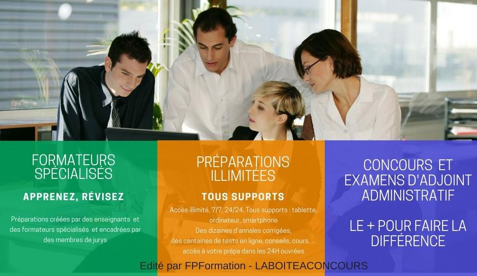 Concours et Examens d'Adjoint Administratif : préparations et formations